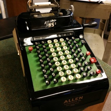 R.C. Allen Adding Machine