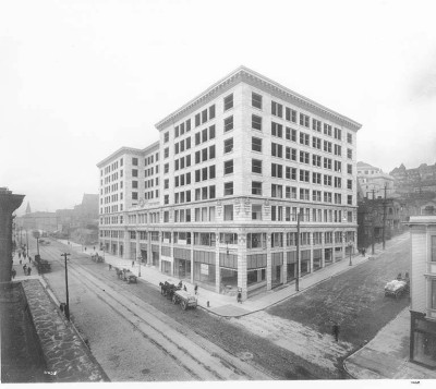 The Central Building, 1908; Courtesy of the University of Washington Libraries, Special Collections, A. Curtis 11038.