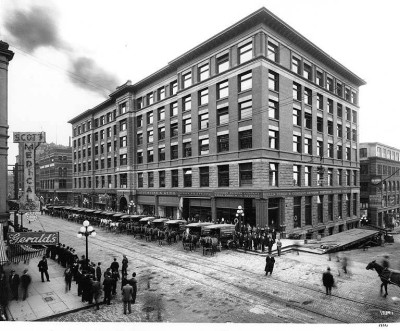 Colman Building, 1909; Courtesy of the University of Washington Libraries, Special Collections, A. Curtis 13391.