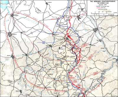 """German Wacht Am Rhein Offensive Plan"" by US Army Center for Military History."