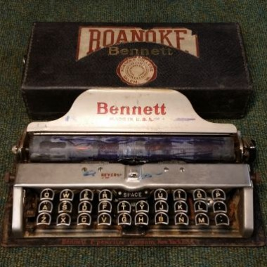 Bennett Portable Typewriter