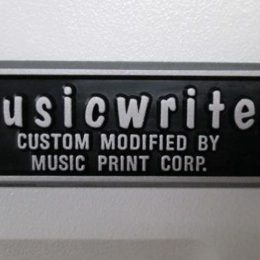 Musical Typewriters, My Oh My!