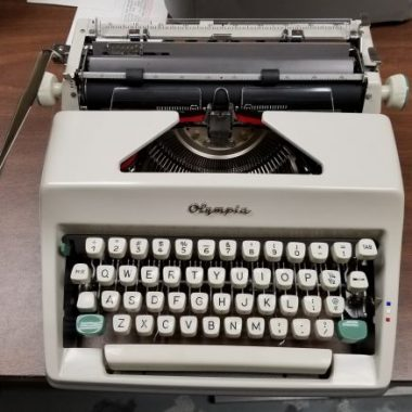 Olympia SM7 Script Typewriter – SOLD $325