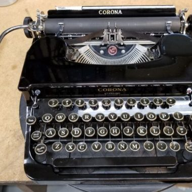 Corona Sterling Flat Top Typewriter – For Sale $435