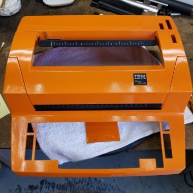 IBM Selectric Re-Paint, Orange!