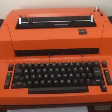 IBM Selectric Re-Paint, Orange!