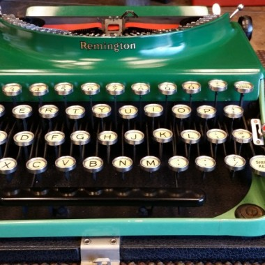 Remington portable number 3 bright green!