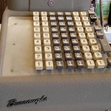 Borroughs Tan Colored Adding Machine