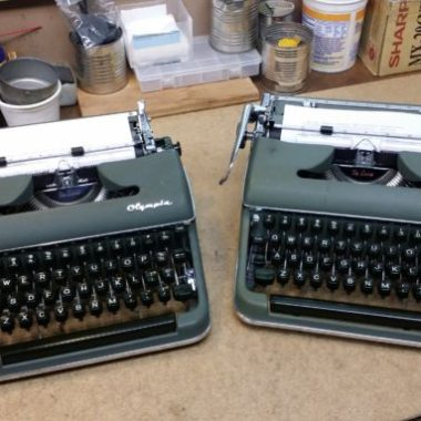 Two Olympia SM3 Portable Typewriters