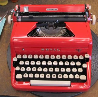 RED Royal Quiet DeLuxe from the year 1957