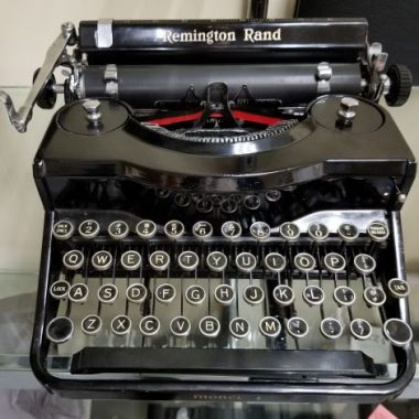 Remington Model 1 Noiseless Portable Typewriter – For Sale $325