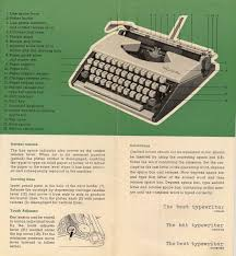 May is for Manuals, Typewriter Manuals